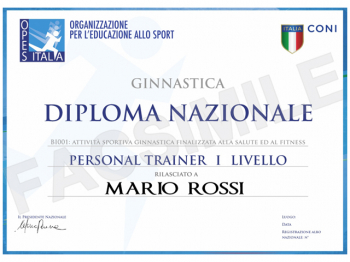 Diploma Nazionale PERSONAL TRAINER