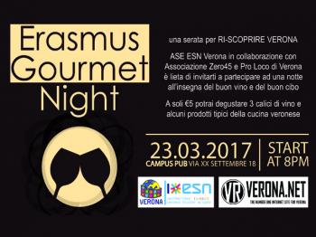 ERASMUS GOURMET NIGHT 23.03.2017