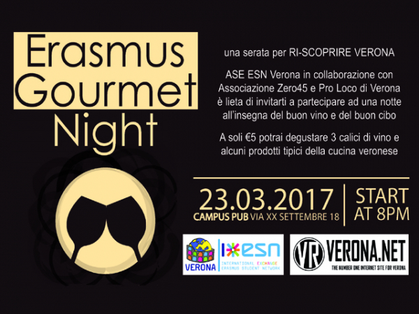 ERASMUS GOURMET NIGHT 23.03.2017
