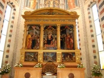 CHIESA SAN ZENO | trittico Mantegna |