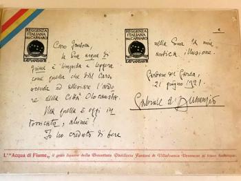 CAFFE' FANTONI lettera Gabriele D'Annunzio