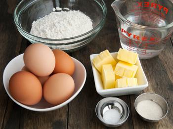 burro farina uova zucchero