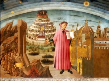 DANTE ALIGHIERI quadro di Domenico di Michelino