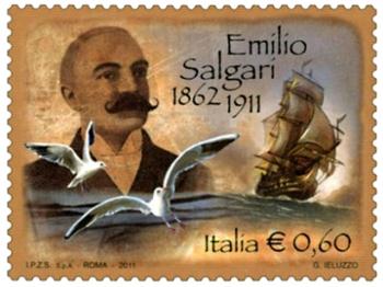 EMILIO SALGARI francobollo commemorativo