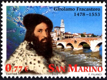 GIROLAMO FRACASTORO bollo commemorativo