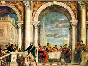PAOLO CALIARI Cena a casa di Levi