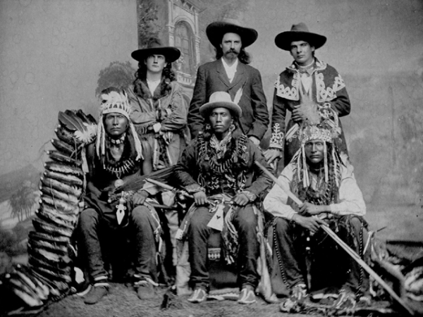 BUFFALO BILL con calamity jane e indiani