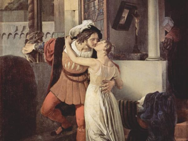 GIULIETTA E ROMEO - quadro F. Hayez