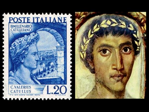 VALERIO CATULLO francobollo e ritratto
