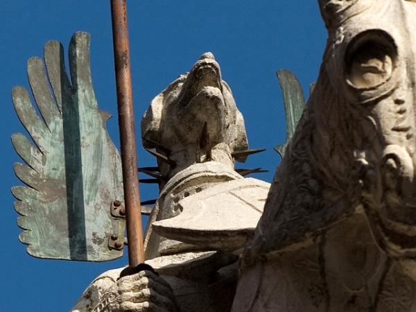 ARCHE SCALIGERE statua equestre di Mastino II